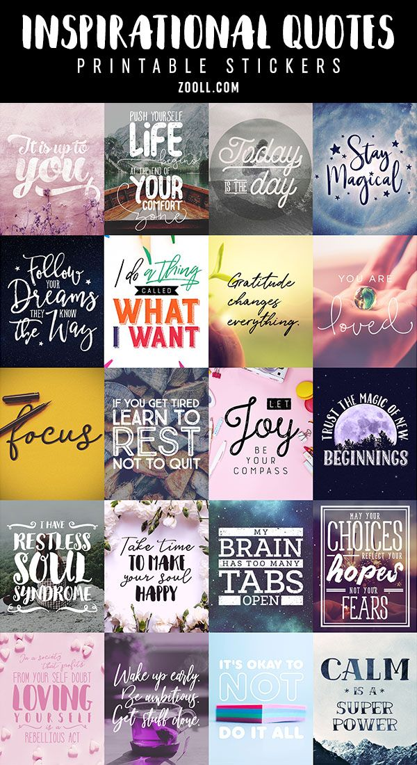 Printables Inspirational Quotes Printable Stickers 3 Free