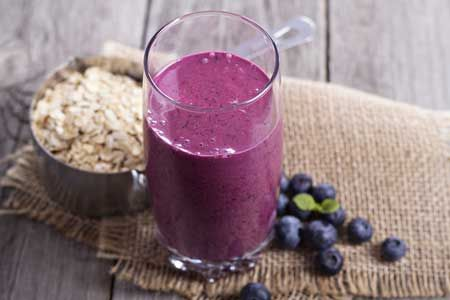 Kick start your day with a super food Blueberry, Maple and oat smoothie... Delicious