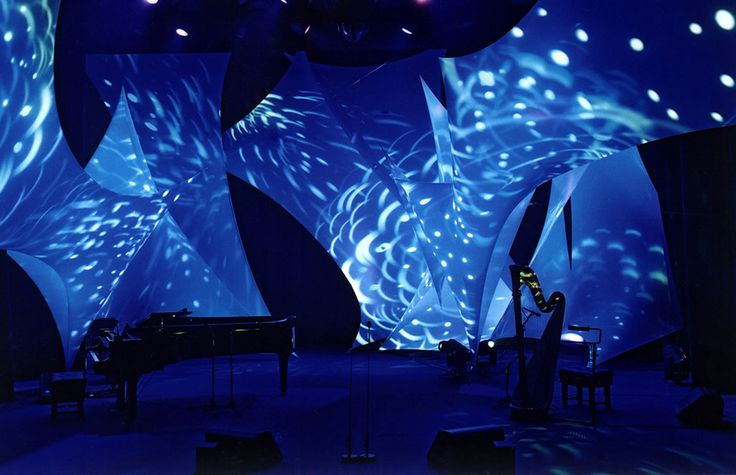 Charlotte Church Concert Stage Design Tensioned Fabric Installation