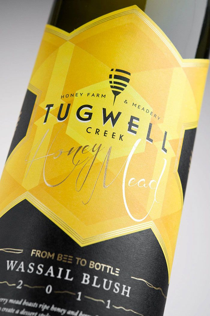 Tugwell Honey Mead. Love the 'E's in 'From Bee to Bottle.'