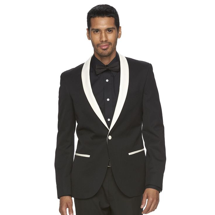 Men's WD.NY Slim-Fit Shawl-Collar Tuxedo Jacket, Size: Medium, Black