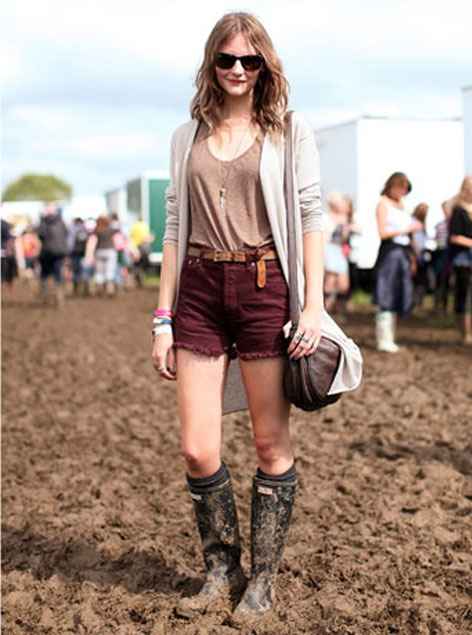 Muddy Wellies at the Glastonbury Festival