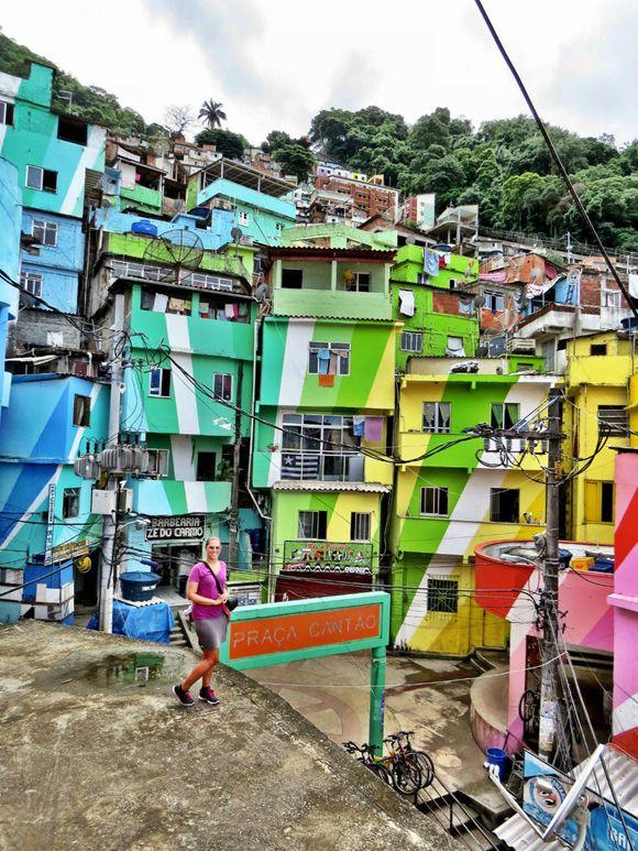 renovated Favela da Rocinha, Rio de Janeiro, Brazil  (2013)   Valentina Joaquina, Local Nomad