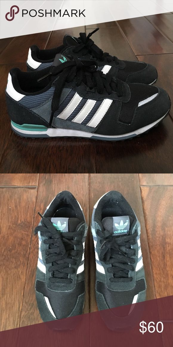 Adidas ZXZ 100 Black and Teal US WMNS SZ 6 Used once, so still like new!  Actually size 4.5 but concert and fit a size 6 in womens. Adidas Shoes Athletic Shoes