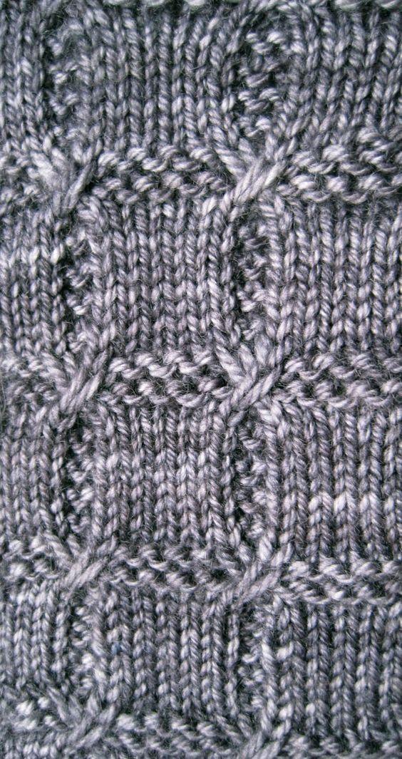 Gestrickte Socke Muster: Rutschte Kabel von WearableArtEmporium