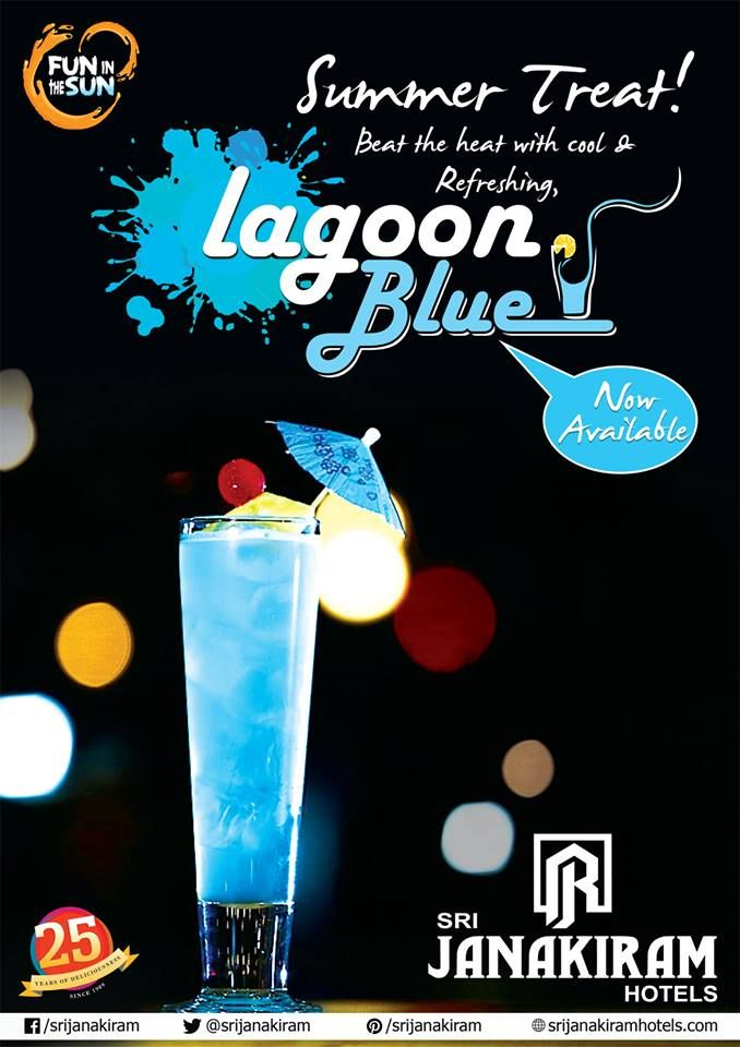 Have you tasted our New ADD(C)ITION at Srijanakiram Hotels? Summer Treat to Beat the heat with cool & Refreshing, Lagoon Blue. ‪#‎foodie‬ ‪#‎mocktail_drink‬ ‪#‎cooler‬ ‪#‎drink‬ ‪#‎ice‬