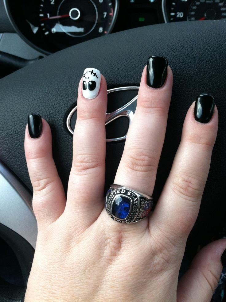 Nice Jack The Skeleton Nails Adornment - Nail Art Ideas - morihati.com