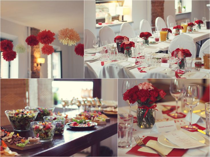 Wedding in shades of red / Wesele w odcieniach czerwieni / https://www.facebook.com/mamboopl