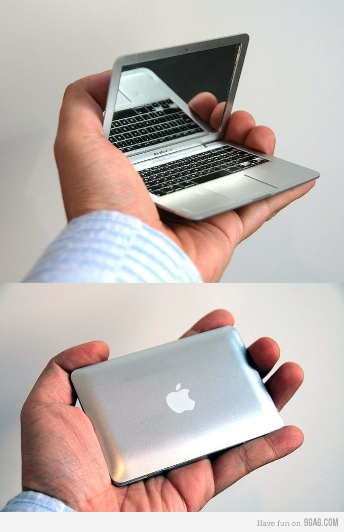 Mirrorbook MacBook Air compact mirror. I may just need this. €20 (Euros)