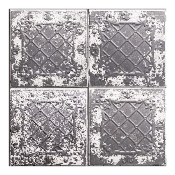 Antique Tin Tile Charcoal Wallpaper ($140) ❤ liked on Polyvore featuring home, home decor, wallpaper, british wallpaper, magnolia home decor, england wallpaper, dark grey wallpaper and charcoal grey wallpaper