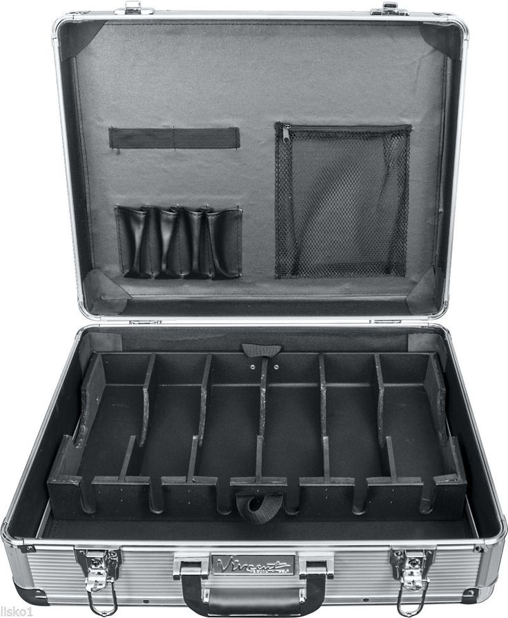 Large Master Barber Clipper Trimmer Storage Travel Case VT10142 SV Silver | eBay