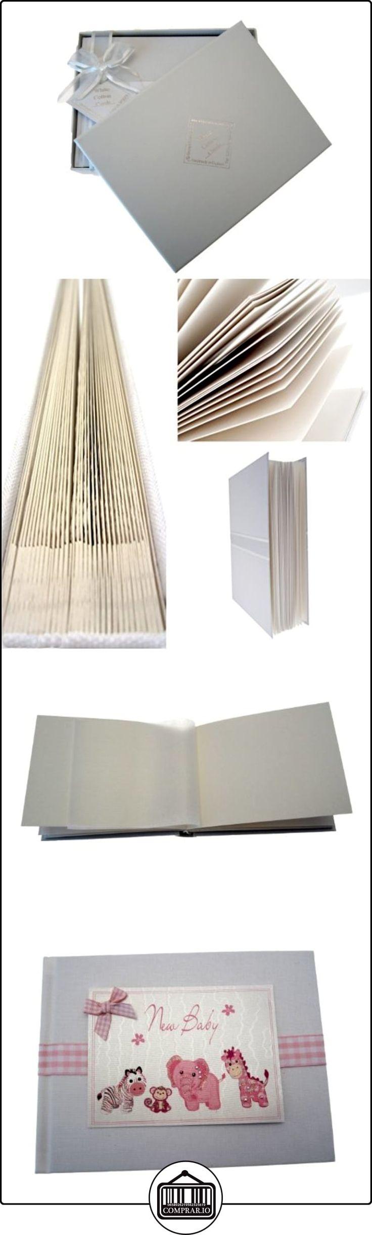 White Cotton Cards - Álbum de fotos de bebé (tamaño pequeño), color rosa  ✿ Regalos para recién nacidos - Bebes ✿ ▬► Ver oferta: http://comprar.io/goto/B00DQSQ4MQ