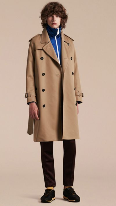 Light taupe brown Raglan-sleeved Cotton Trench Coat 2
