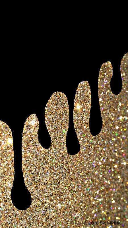 Glitter Drip Wallpaper Glitter phone wallpaper, Gold