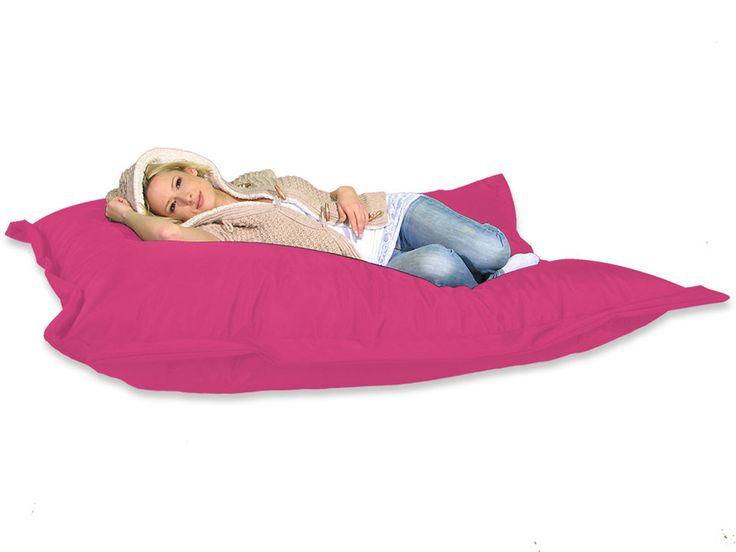 Sitzsack XXL 180 x 140 cm Sitzkissen Rosa, Riesen Sitzsack, fest & Stabil