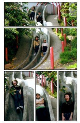 The secret Seward Street Slides. They are not for the faint of heart. Don't forget a piece of cardboard to slide on to make the ride nicer, or something to like a piece of carpet or a blanket for kids to slow the ride down a bit.