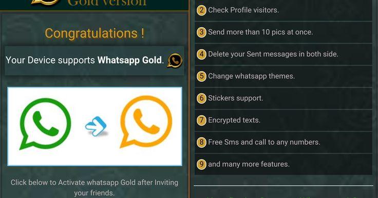 """Uma suposta versão do WhatsApp com recursos avançados e um ícone dourado vem chamando a atenção dos internautas. A confusão em torno do chamado """"WhatsApp Gold"""" está relacionada, na verdade, com uma tentativa de aplicar um golpe utilizando o nome ..."""