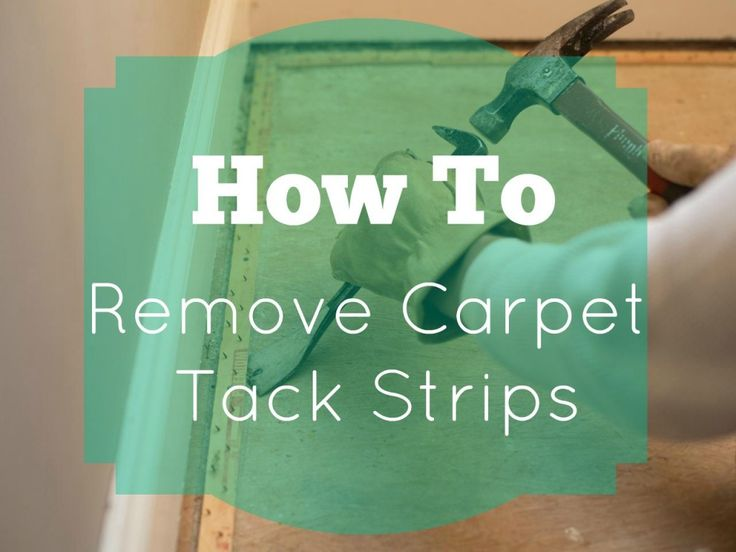 Step by Step (inc video) - How to Remove Carpet tack strips.  Shows how to make an annoying job super easy!                                                                                                                                                                                 More