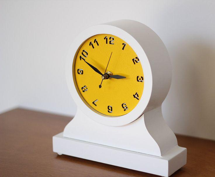 modern mantel clock desktop clock by uncommon on Etsy