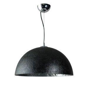Čierno-strieborné stropné svietidlo ETH Mezzo Tondo, ⌀50cm