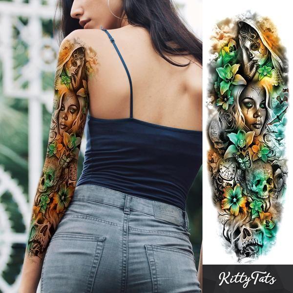 Zombie Princess Arm Sleeve Tattoos Full Sleeve Tattoos Full Arm Tattoos