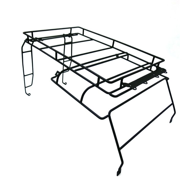 RC Crawler 1:10 D90 Metal Roof Rack / Luggage Carrier with Light Stand for RC4WD D90 Defender RC Car Shell