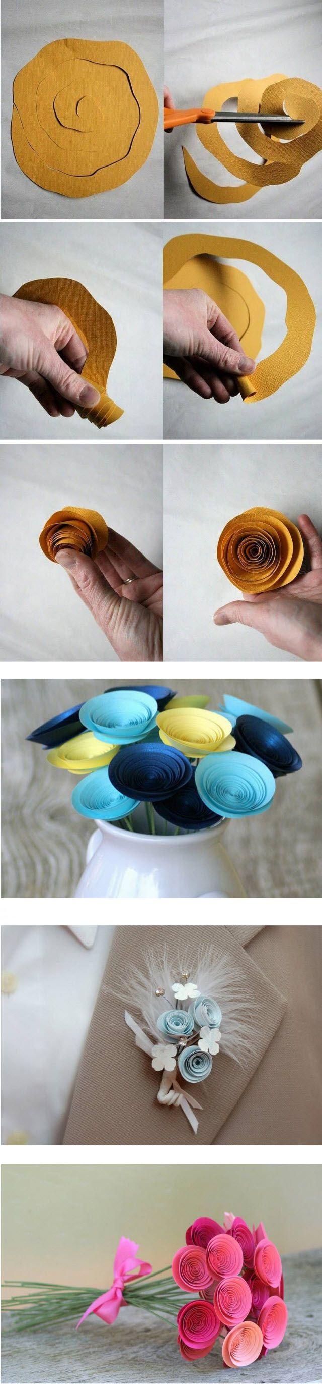 как сделать цветы своими руками из бумаги - фото и видео мк