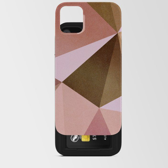 Smartphone bag cell phone bag Geometric phone pouch Protective Phone Sleeve Pink Geometric Mobile phone case