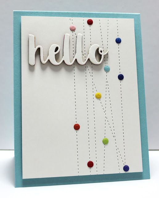 Hello There Die-namics, Stitched Strip Die-namics - Jody Morrow  #mftstamps