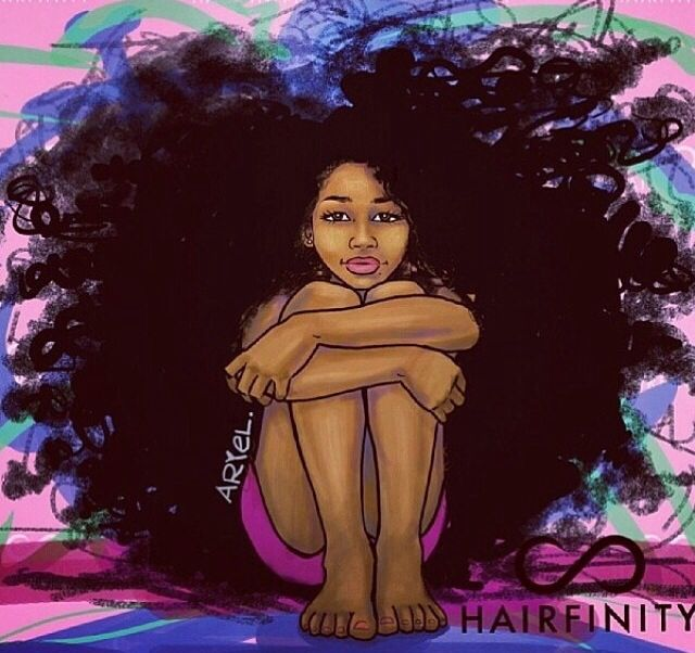 Artist: Keturah Ariel love her natural hair art