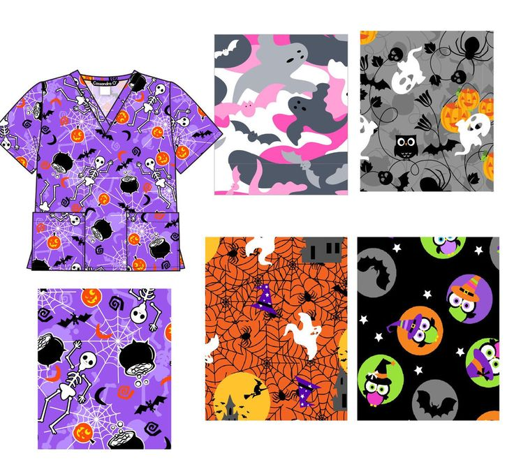 halloween scrub tops size xs 2xl new nursing medical scrub tops holiday prints - Halloween Scrubs Uniforms