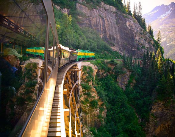 The Classic Alaska Train Tours: The White Pass & Yukon Railway (Courtesy WP&YR)