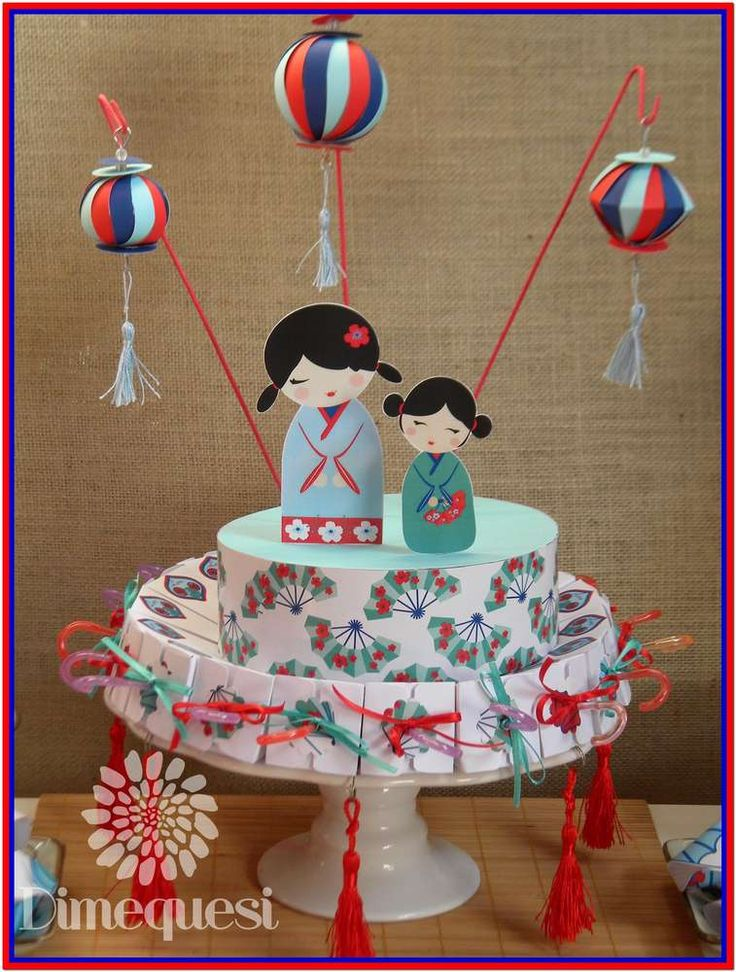 Topless paris asian themed birthday party ideas