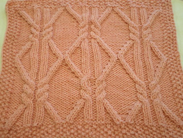 11 Best Knitting Aran Squares Images On Pinterest Knit Stitches