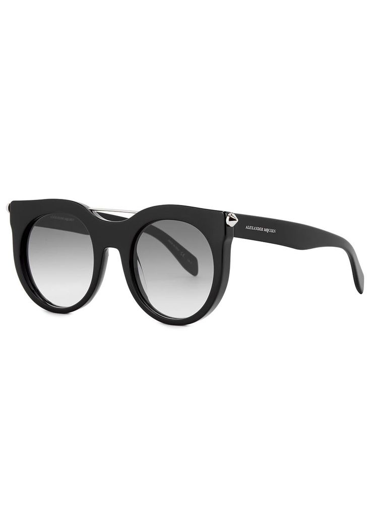 ALEXANDER MCQUEEN Black round-frame sunglasses (SC159107) £265.00