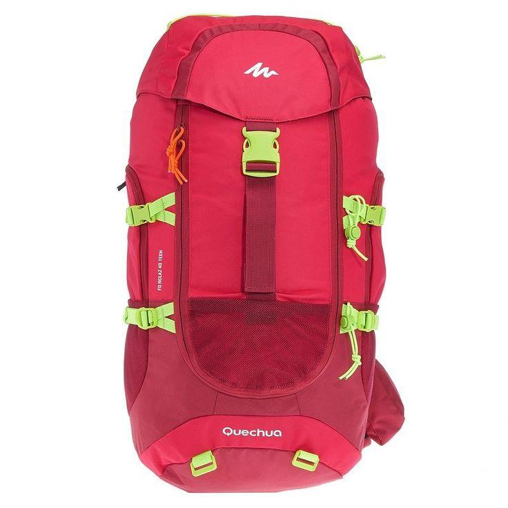 £29.99 - 35 - Hiking - Forclaz 40 Kids Hiking Backpack 40L - Pink - QUECHUA
