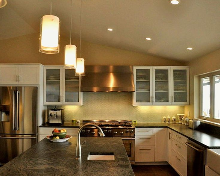 light fixtures for kitchen | Proper Lighting for a Kitchen Island