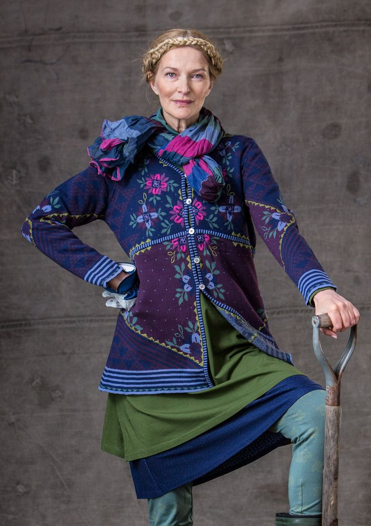 """""""Tuulikki"""" cardigan in eco-cotton – Sweaters & cardigans – GUDRUN SJÖDÉN – Webshop, mail order and boutiques 
