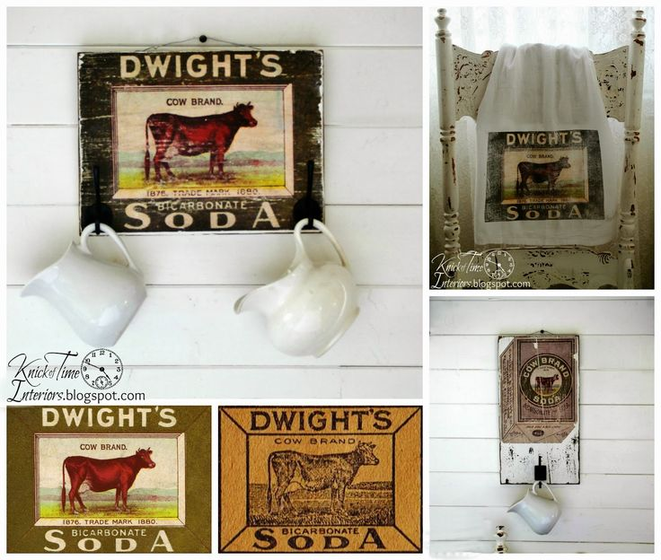 Free Printables - Antique Cow Image Advertisements & Project Ideas via KNICK OF TIME @ knickoftime.net