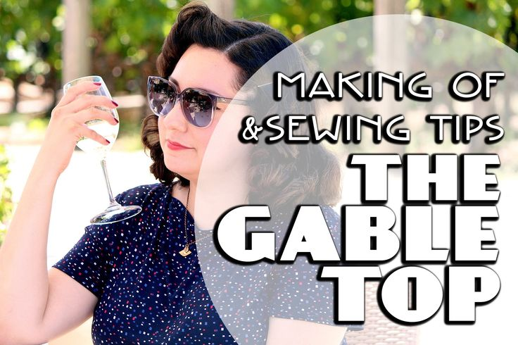 Want to see The Gable Top in action? Check out Bianca's amazing video showing her making and wearing her Gable top. Beautiful!