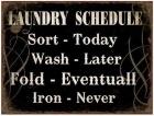 Sisustustaulu Laundry Schedule