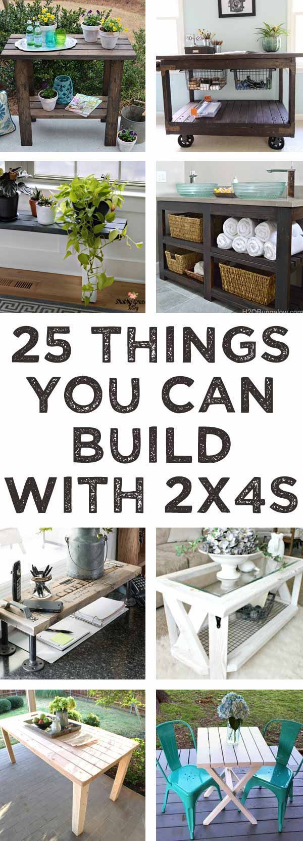 Diy Crafts Ideas : So many good ideas here for things to build with 2x4s!