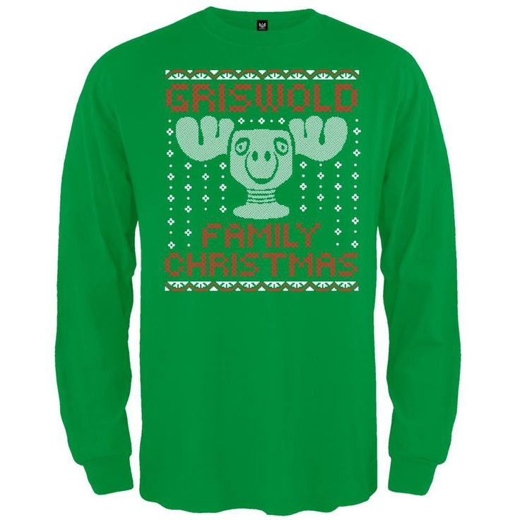 Christmas Vacation - Crochet Moose Mug Long Sleeve T-Shirt