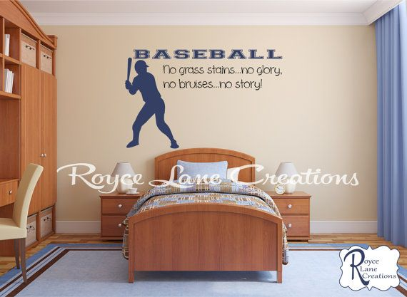 Baseball Decal No Grass Stains No Glory No by RoyceLaneCreations