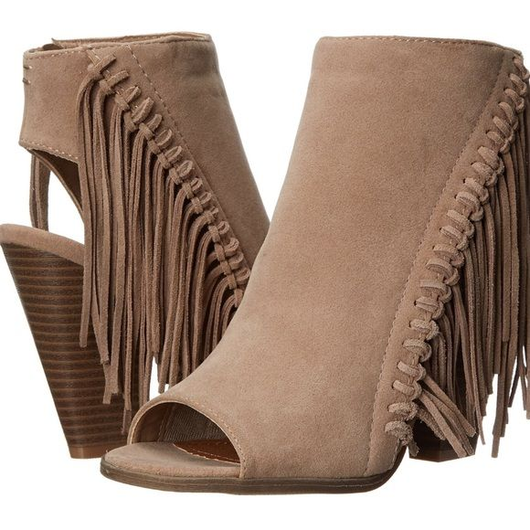 """⭐️Editors Pick⭐️Rampage Fringe Booties A must have for any boho fringe lover! Leather and fabric, 4"""" heel, brand new. Rampage Shoes Heels"""