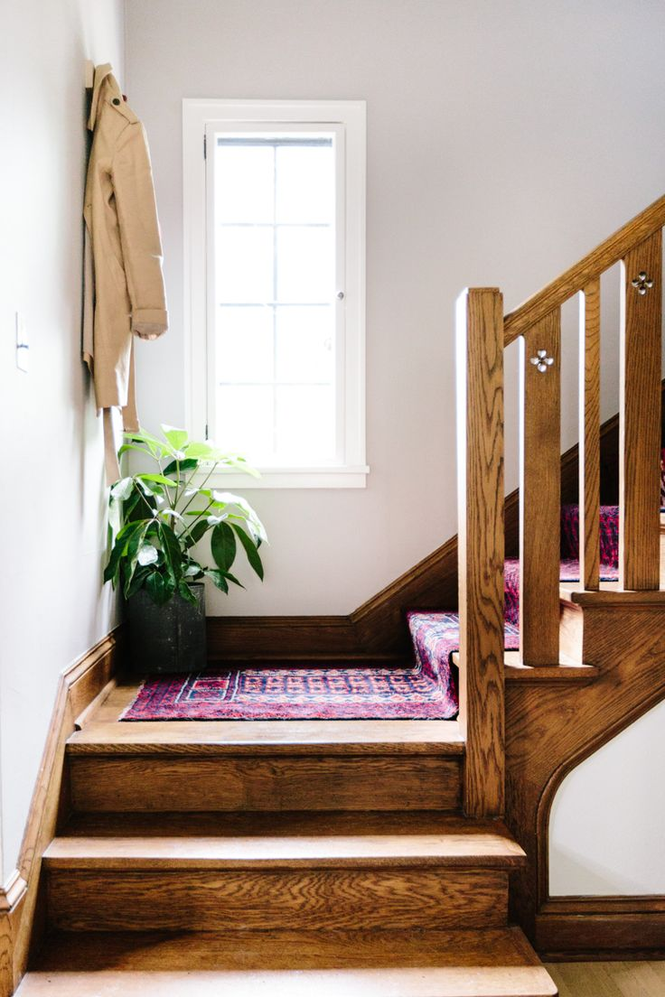 Mix U0026 Matched Patterns: DIY Stair Runner Made With Vintage Rugs