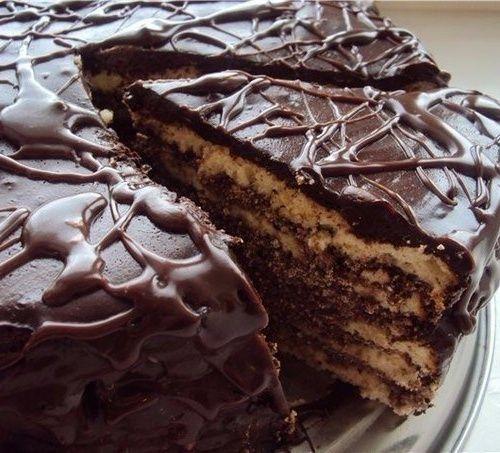 """Торт на кефире """"Черный п…"""