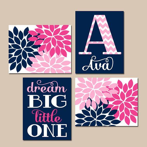 Best 25+ Navy Pink Nurseries Ideas On Pinterest