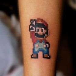 Inkcover | Super Mario tattoo: I would absolutely love to get this! I think this will be my next tattoo!
