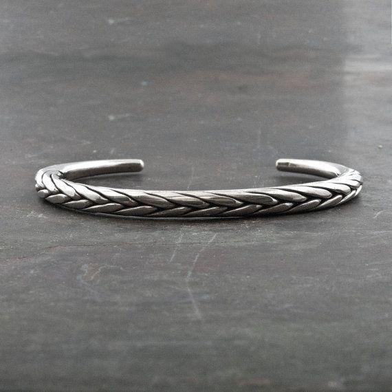 Sterling Silver Bracelet Men/Women Bangle by SunSanJewelry on Etsy